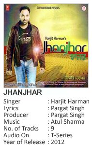 Harjit Harman's New Album Jhanjhar